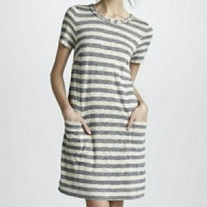 Marc by Marc Jacobs Pebble Striped Jersey Dress Md